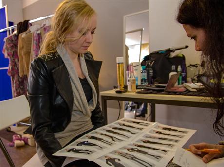 Nokia Fashion-Café Düsseldorf: Irene Luft zeigt mir ihr Lookbook