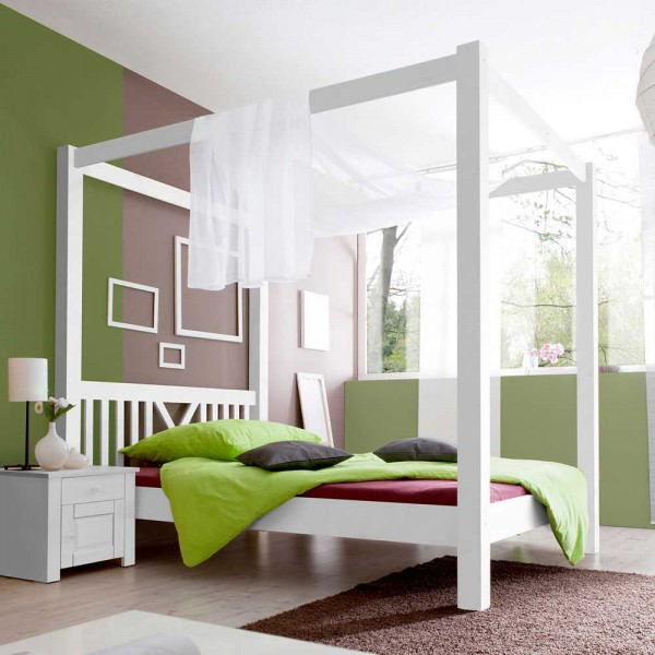 himmelbett wei romantisch neuesten design kollektionen f r die familien. Black Bedroom Furniture Sets. Home Design Ideas