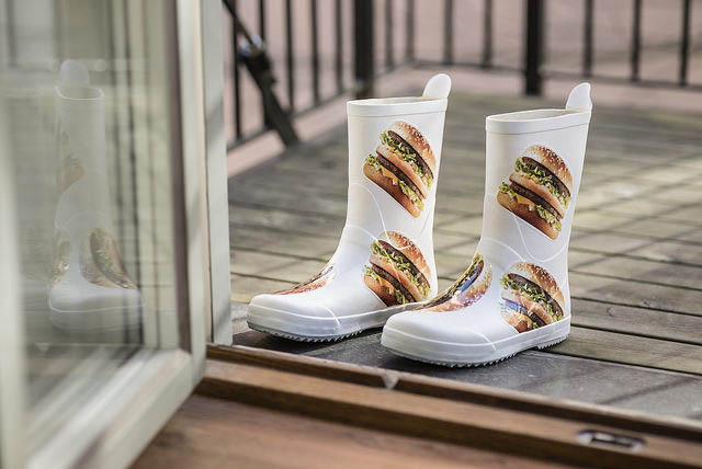 Mc-Donalds-Gummistiefel