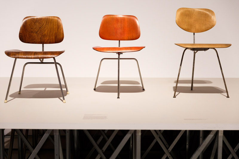 Ray und Charles Eames im Londoner Barbican Centre