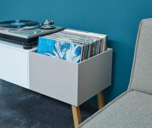 Cubit Sideboard für den Plattenspieler und für Schallplatten